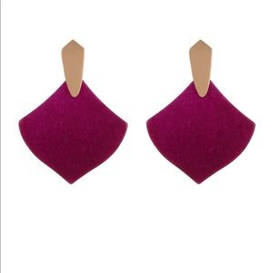 Kendra Scott Astoria Earrings in Maroon Jade